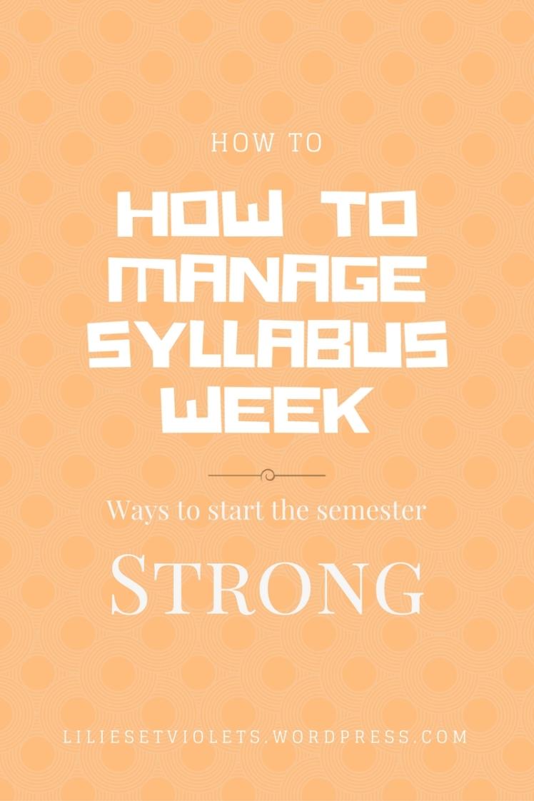 Ways to start the semester